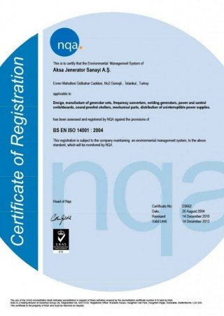 Aksa-ISO14001