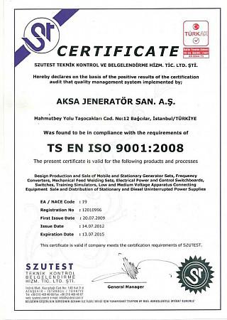 Aksa-ISO9001