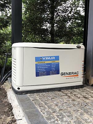 Газовый генератор для дома мощностью 13 кВт производства GENERAC