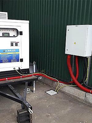 Передвижная дизельная электростанция 30 кВт для банковского учреждения в г. Киев
