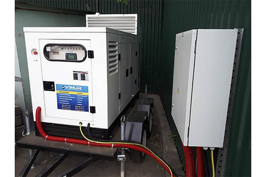 Пересувна дизельна електростанція 30 кВт для банківської установи в г. Киев