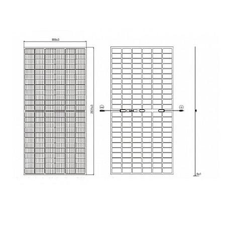 Солнечные батареи JA Solar (солнечные панели) JAM72D10/MB-410 Mono Half-cell PERC Bifacial Double Glass - фото 4