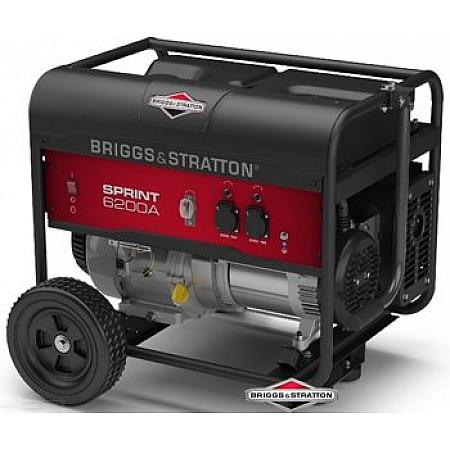 Бензиновый генератор 4,9 кВт Briggs&Stratton Sprint 6200A открытого типа