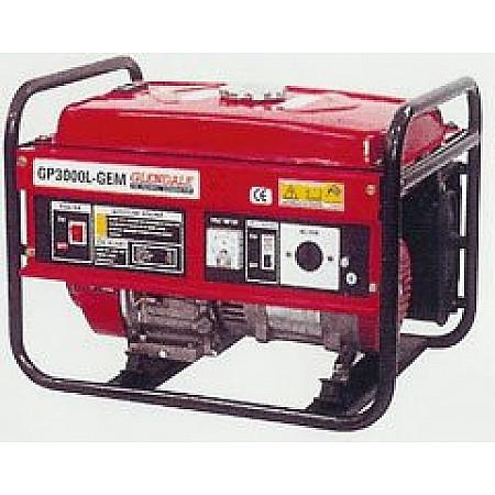 Бензиновый генератор 2,7 кВт Glendale GP3000L-GEM открытого типа