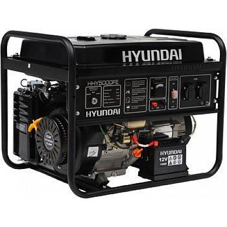 Электростанция бензиновая 4 кВт HYUNDAI HHY 5000FE открытого типа