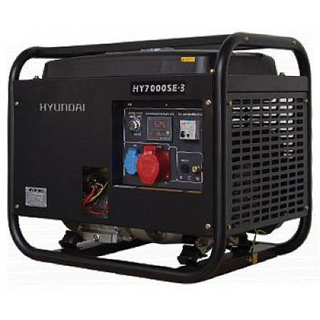 Бензиновый генератор 5,5 кВт HYUNDAI HY 7000SE 3 открытый