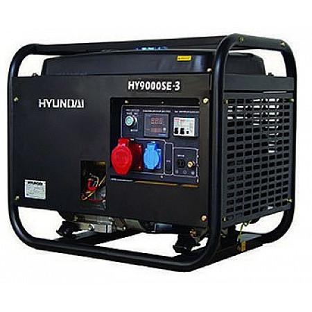 Бензиновая электростанция 6,5 кВт HYUNDAI HY 9000SE-3 открытая