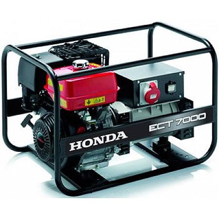 Бензогенератор 7 кВт Honda ECT 7000 открытого типа