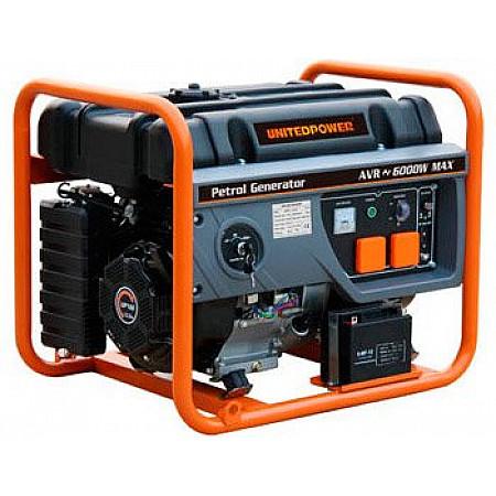 Бензиновый генератор 5 кВт UNITED POWER GG6300E открытого типа