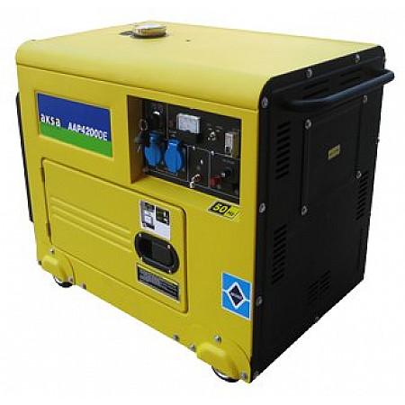 Дизельный генератор 4 кВт AKSA AAP4200DE в кожухе