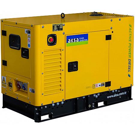 Дизель генератор 10 кВт AKSA APD16MA в кожухе