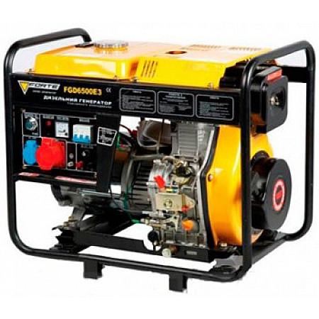 Электрогенератор дизельный 5 кВт Forte FGD6500E3 открытый