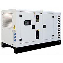 Дизель генератор 11 кВт HYUNDAI DHY11KSEm в кожухе