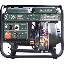 Электрогенератор дизельный 6,8 кВт Könner&Söhnen KS 9000HDE-1/3 открытого типа